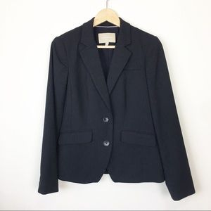 Banana Republic Navy pinstripe career blazer 4